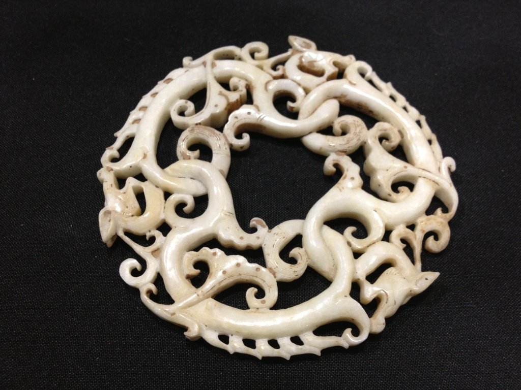 Chinese White Jade Alegoric symbol of Prosperity
