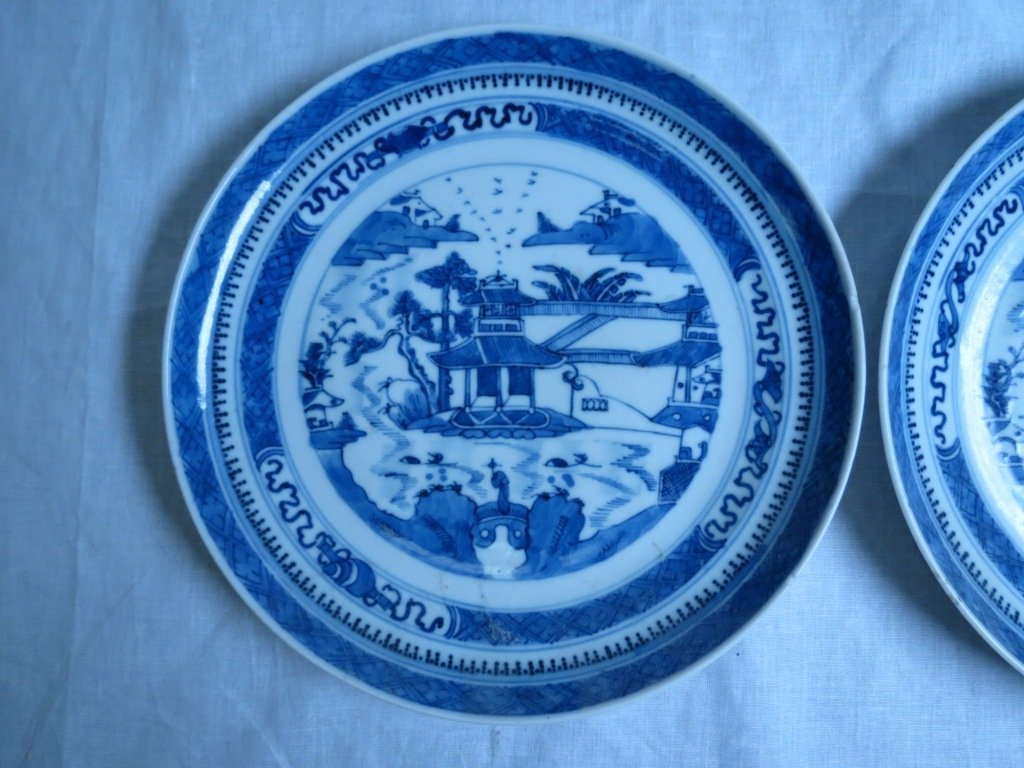 Pair 19th Century Chinese Export Plates