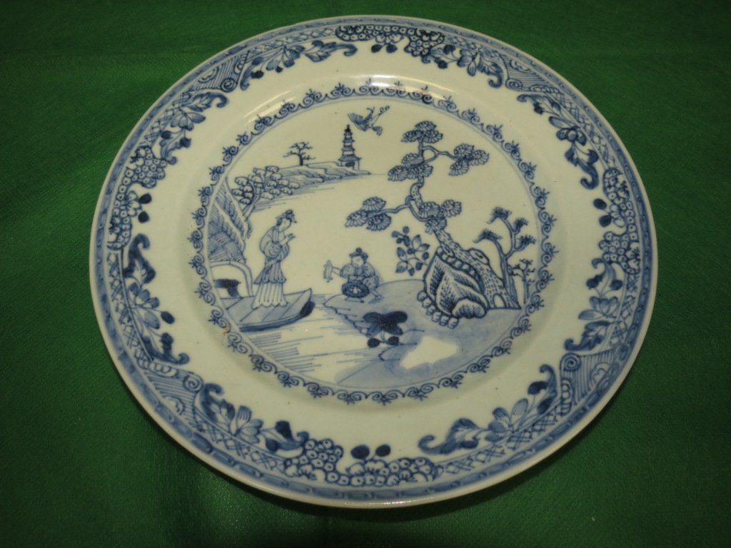 18th Cent.Chinese Export Blue and White  Plate