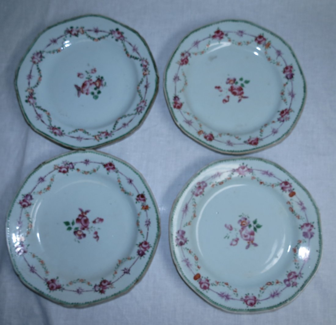 Four Plates Famille Rose -