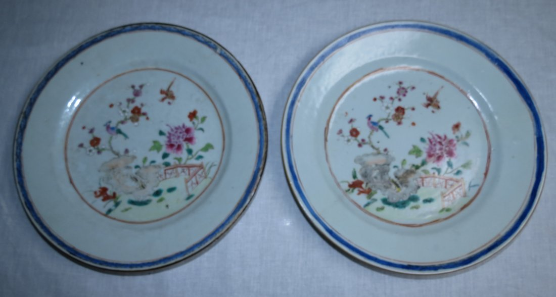 Pair of Plates Famille Rose