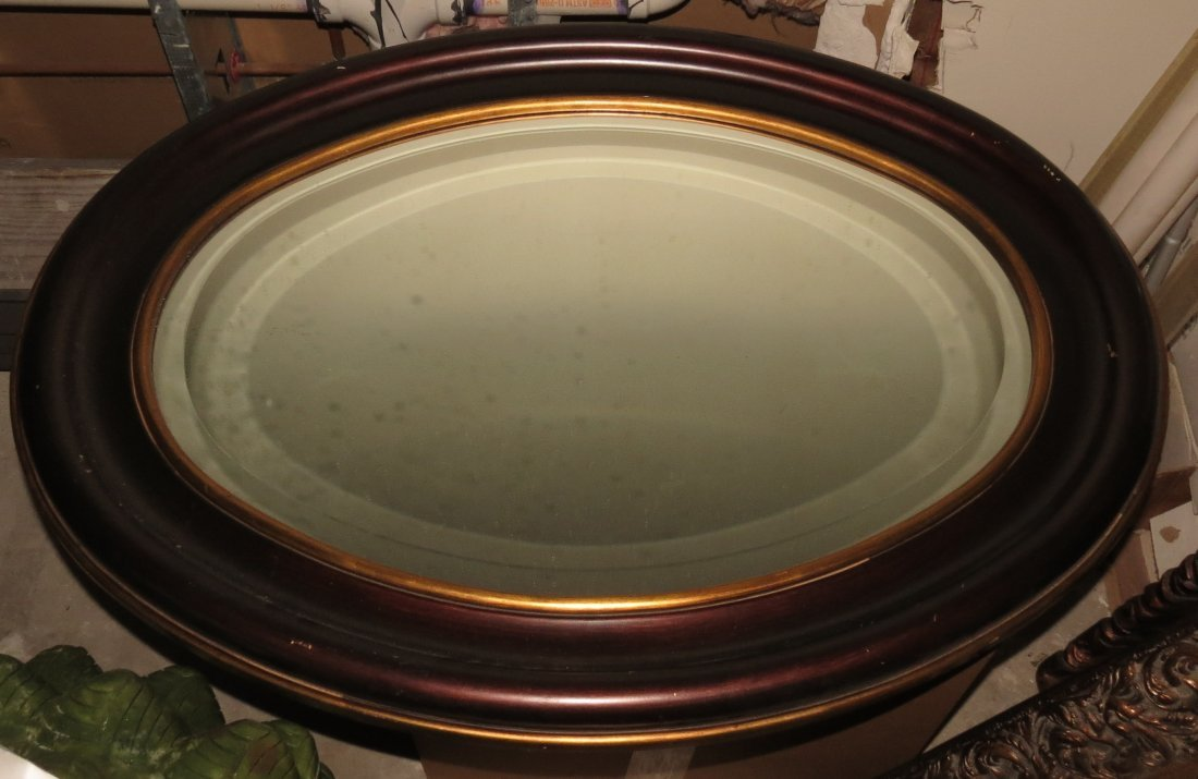 Oval Mirror Biseled Glass