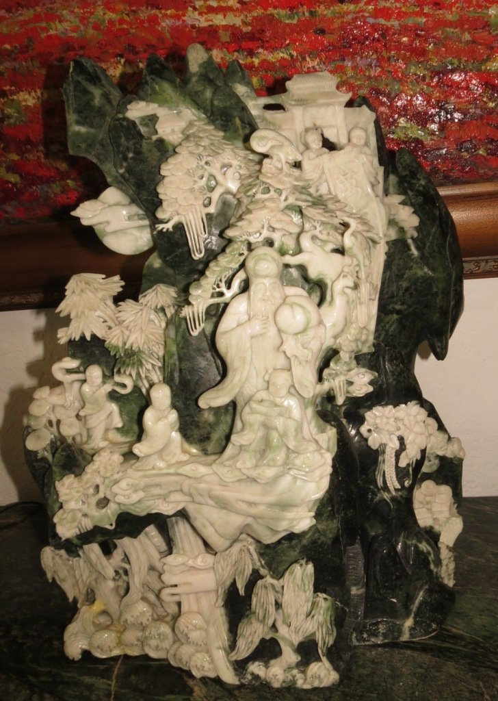 Jadeite and Nephrite Jade Sculpture.