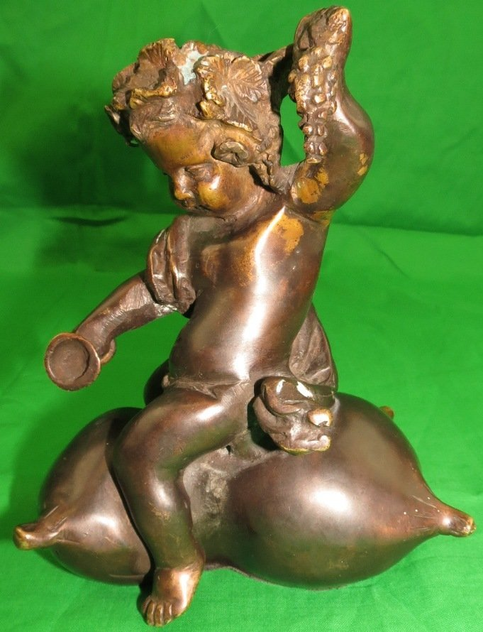 Young Bacchus Bronze signed L.Kley