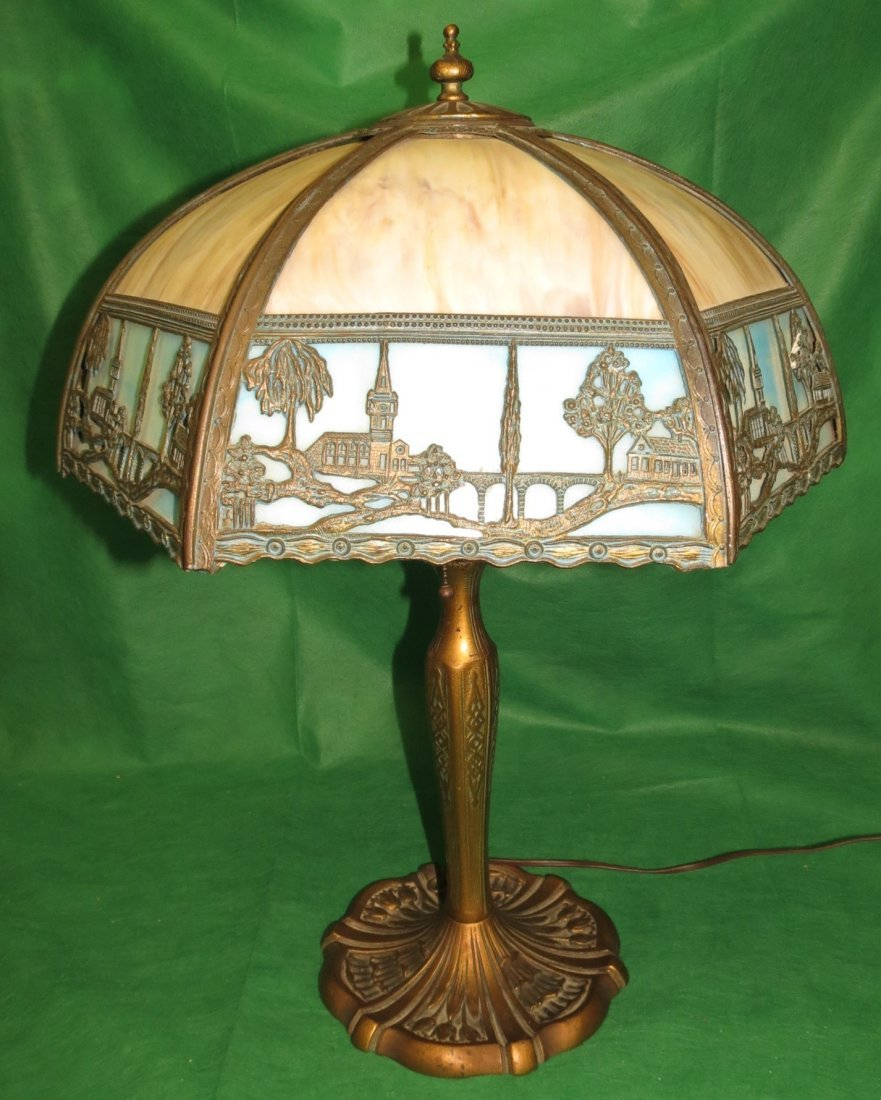 "Slag Table Lamp 1920 H: 22"" Dia: 16"""