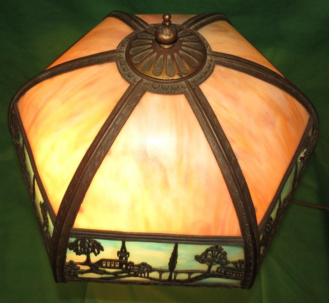 "Slag Table Lamp 1920 H: 22"" Dia: 16"" - 2"