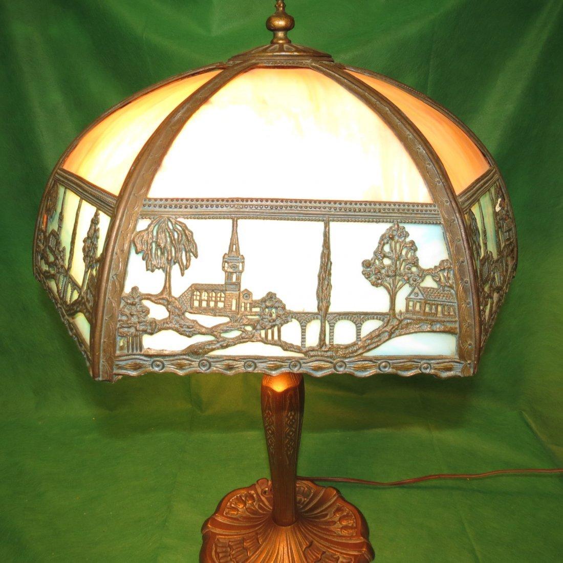 "Slag Table Lamp 1920 H: 22"" Dia: 16"" - 3"