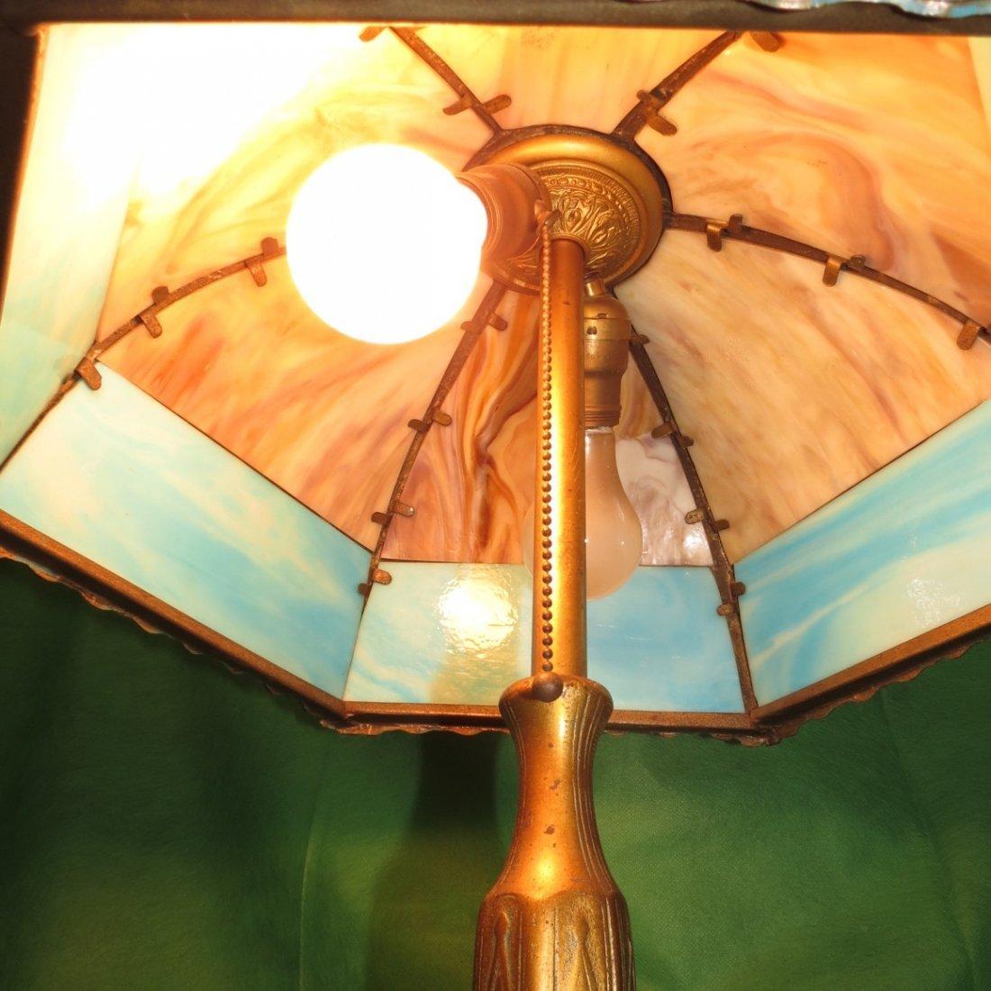 "Slag Table Lamp 1920 H: 22"" Dia: 16"" - 4"