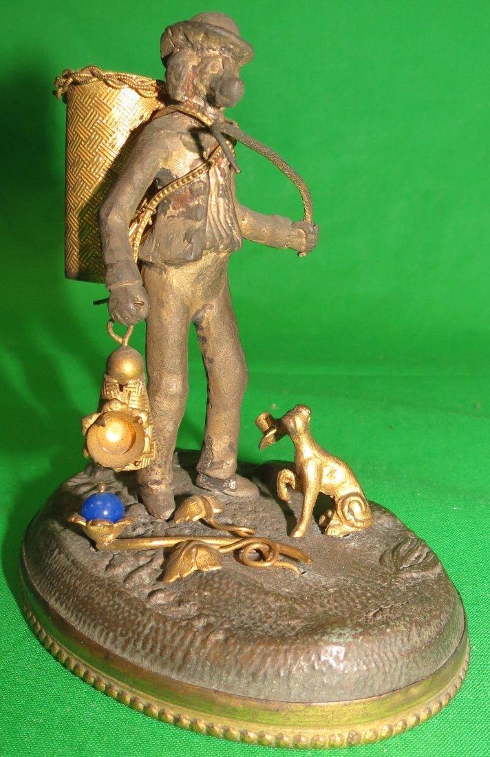 "Vienna Bronze Figure of Dogs 4"" x 4"" x 3"""