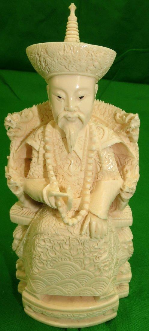 Ivory Emperor Sculpture Splendid Detail