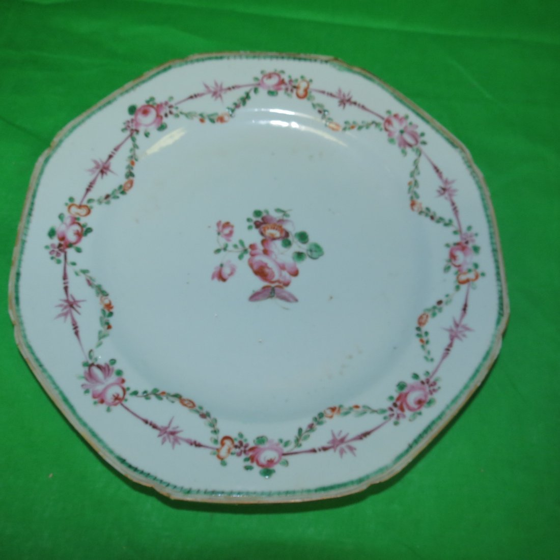"""Old Chinese Porcelain Plate Export 1800 Dia: 9"""""""