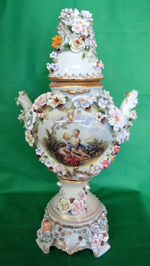 "Porcelain Vase (After Meissen) H: 18"" Dia: 11"""