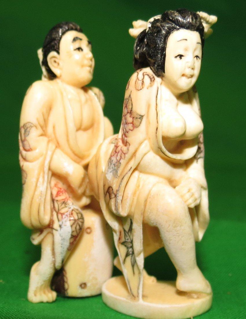 Erotic ivory Netsuke