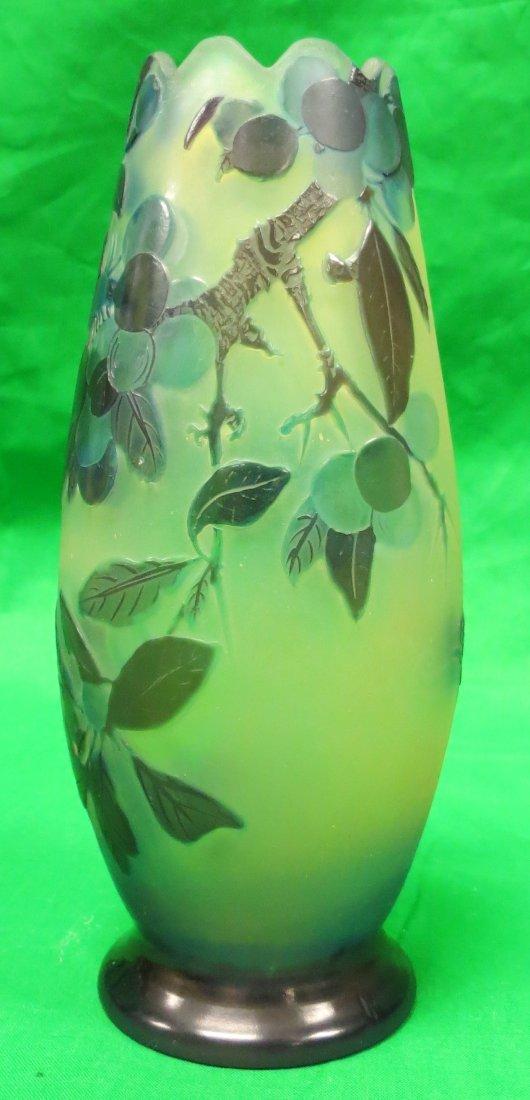 "Galle Vase (Original) Cameo Glass H: 7"" France"