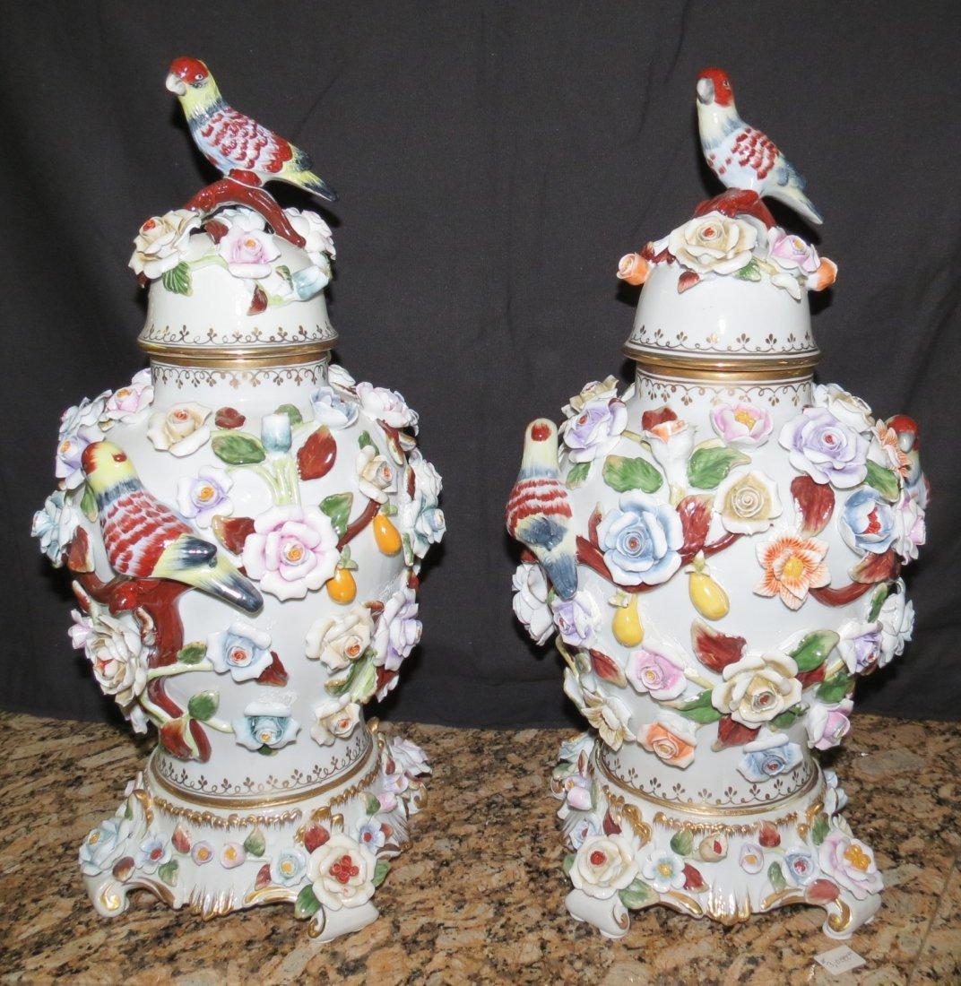 """Pair of Meissen Vases  H-18"""" Dia.10"""""""