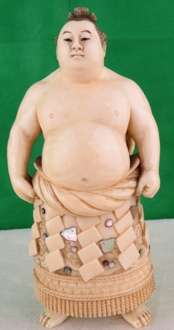 Japanese Ivory - Sumo - Turtle Shibayama 1900
