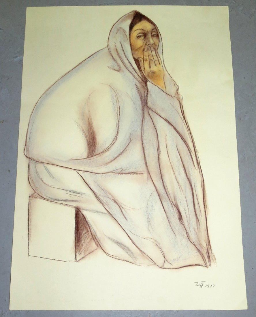 Francisco Zuniga Pastel on Paper 1977