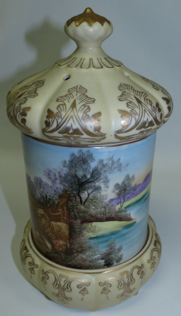 Porcelain Bomboniere with Music Box