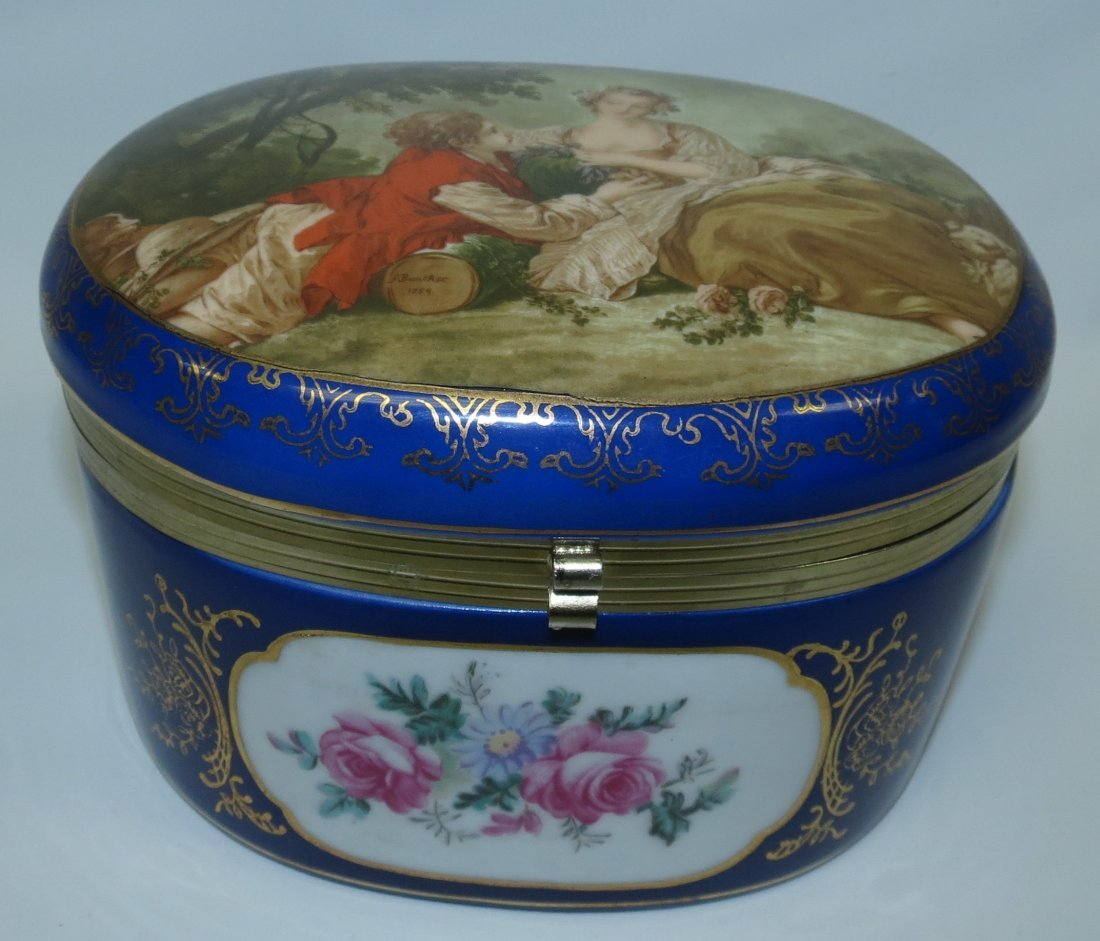 Sevres Style Jewelry Box, Mark:R &S