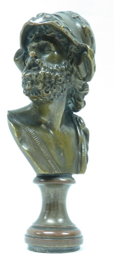 "Antique French Bronze Seal, H-4.6""  1.14 lbs."