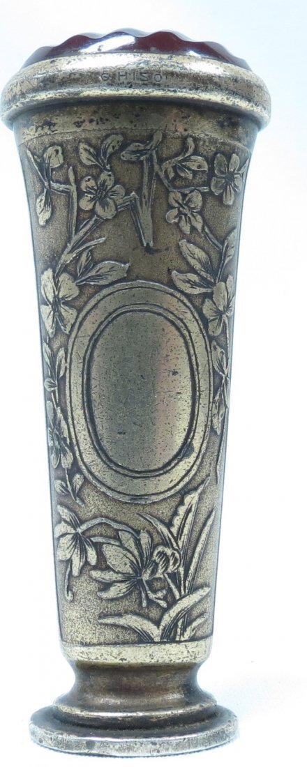 Silver and Agathe,Art Nouveau Seal, sig. G. Hiso