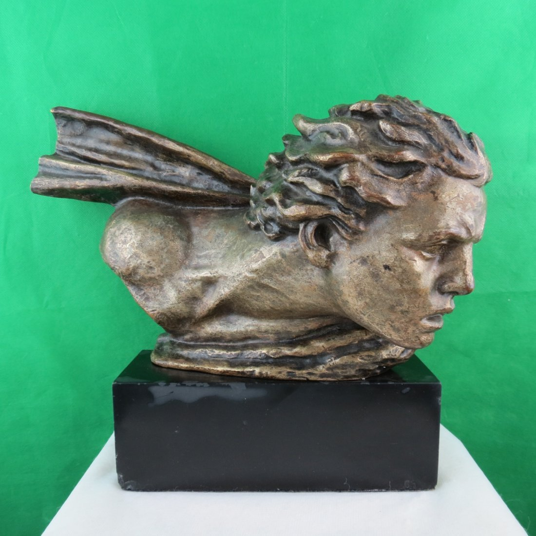 Alex Kelety Art Deco Bronze Head 1920