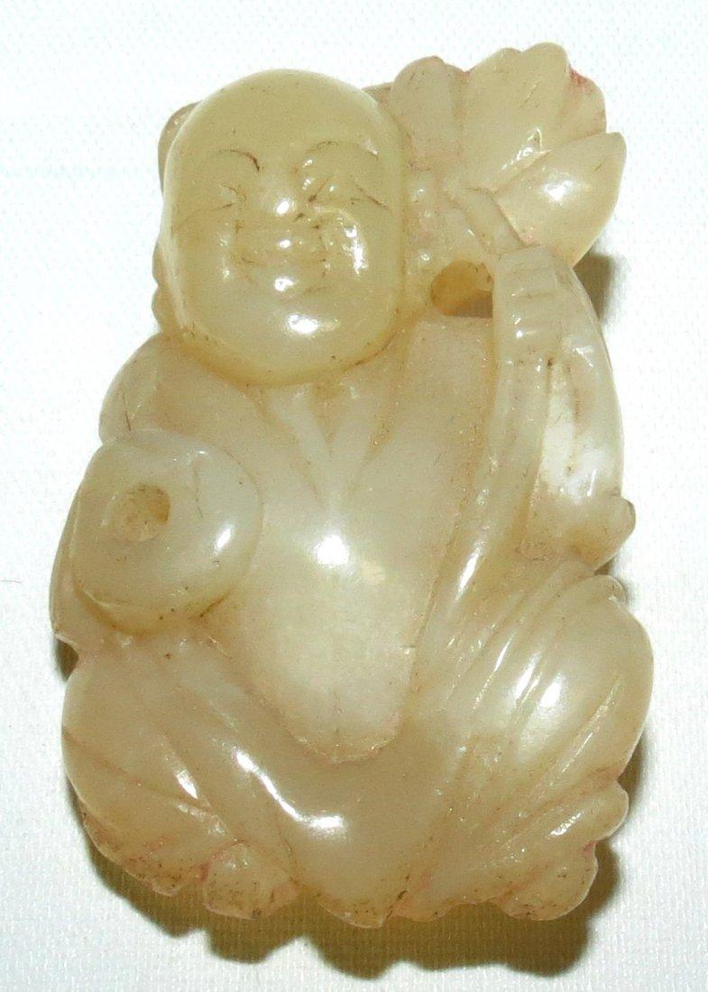 Old White Jadeite Figure of Buddah