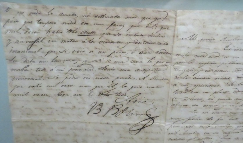 Simon Bolivar Old Signed Letter,  See Pictures.