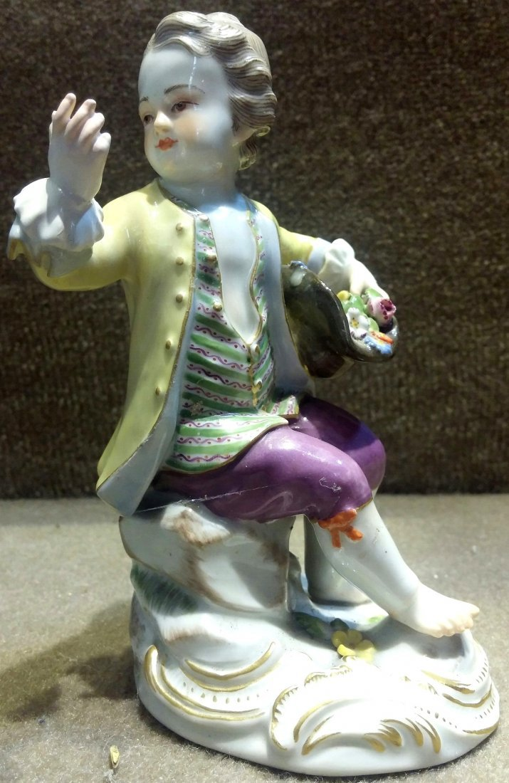 Meissen Boy Looking at Hand H: 5""