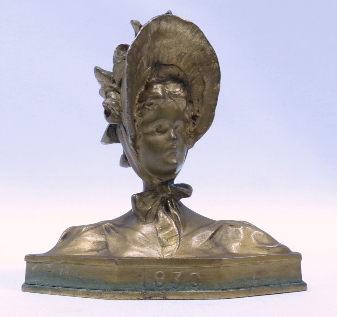 Bronze Bust of Lady by Graber - France 1880 H: 3""