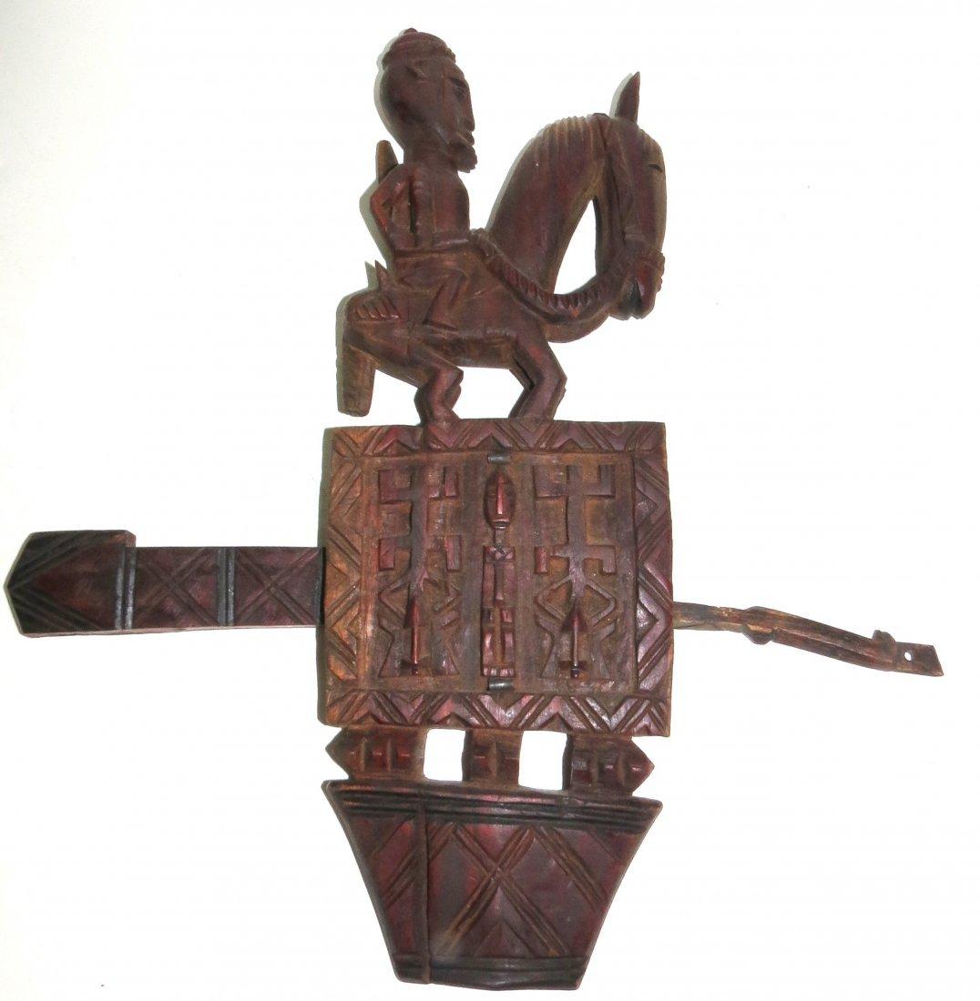 "Mali Dogon Lock,Carved Wood.  H:17""W: 14""D: 2"""