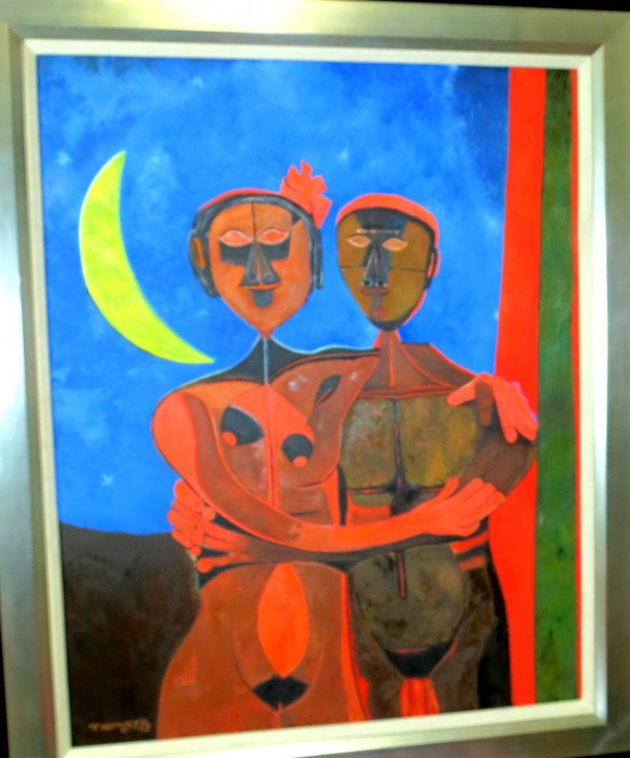 "Rufino Tamayo Oil on Canvas with COA Art: 25"" x 32"""