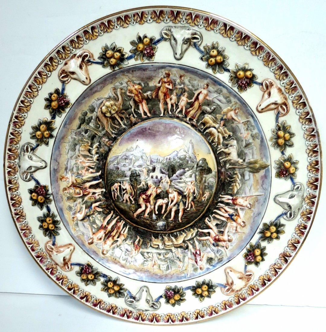 "Capo di Monte Plate Excellent Italy 1900 D: 13"""