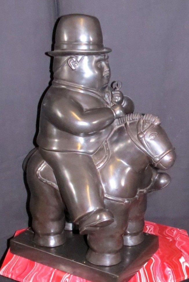 F. Botero Bronze Figure (Pedrito on Horse) COA