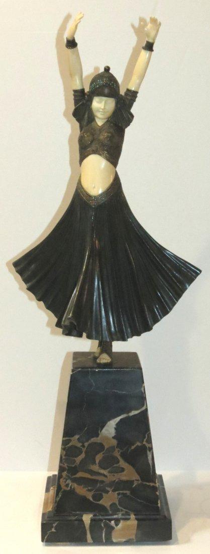 """D. Chiparus """"Hindu Dancer"""" Authentic Bronze & Ivory"""