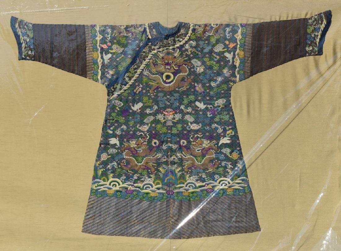 Framed Chinese Kesi Dragon Robe