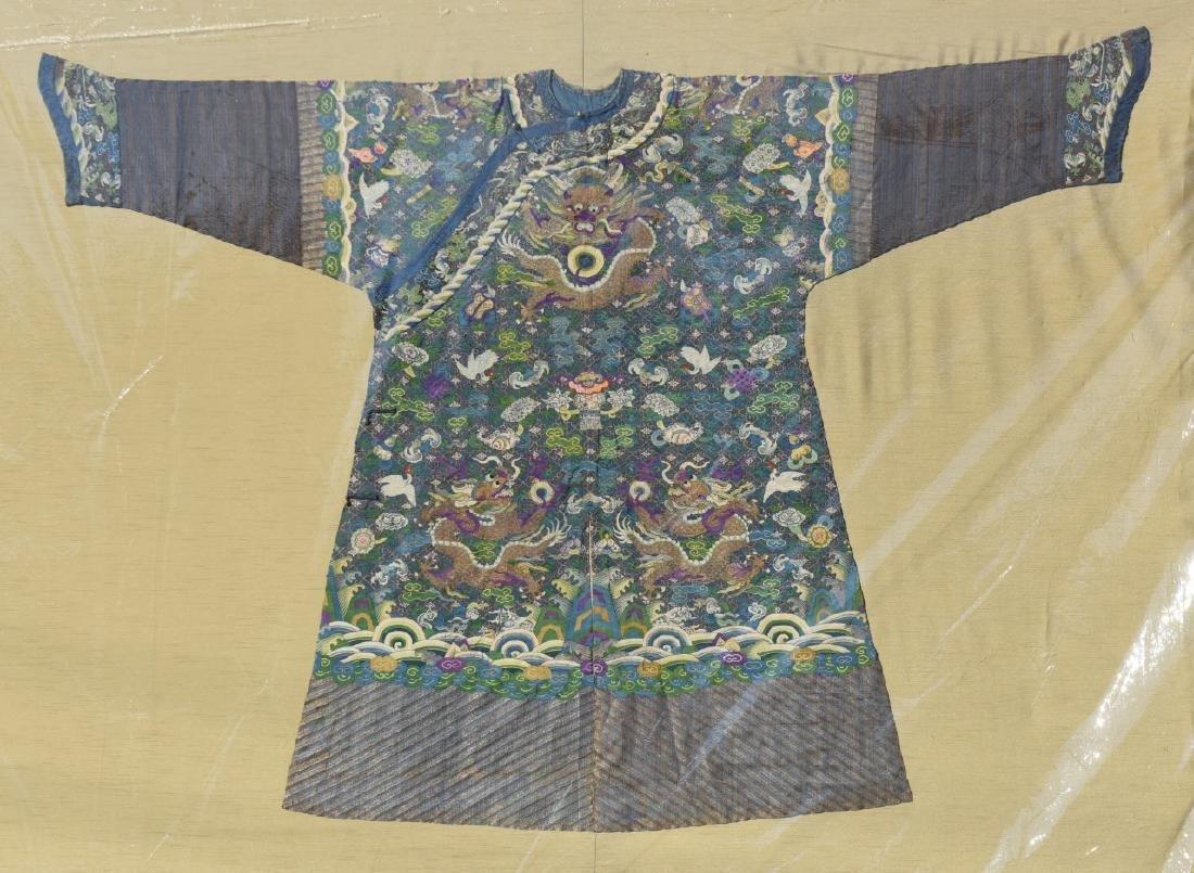 Framed Chinese Kesi Dragon Robe - 2