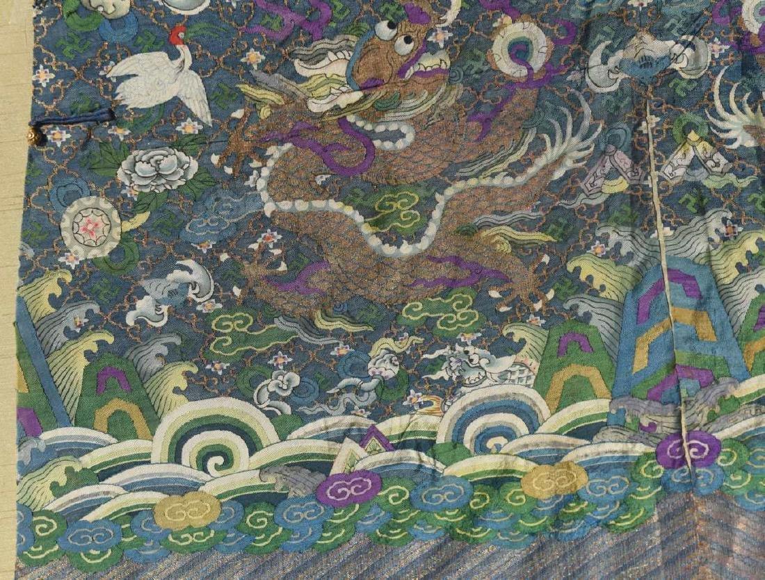 Framed Chinese Kesi Dragon Robe - 5