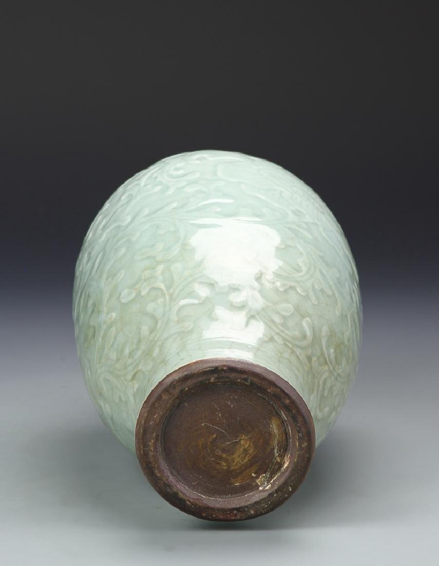 Chinese Lung Quan Meiping Vase - 5