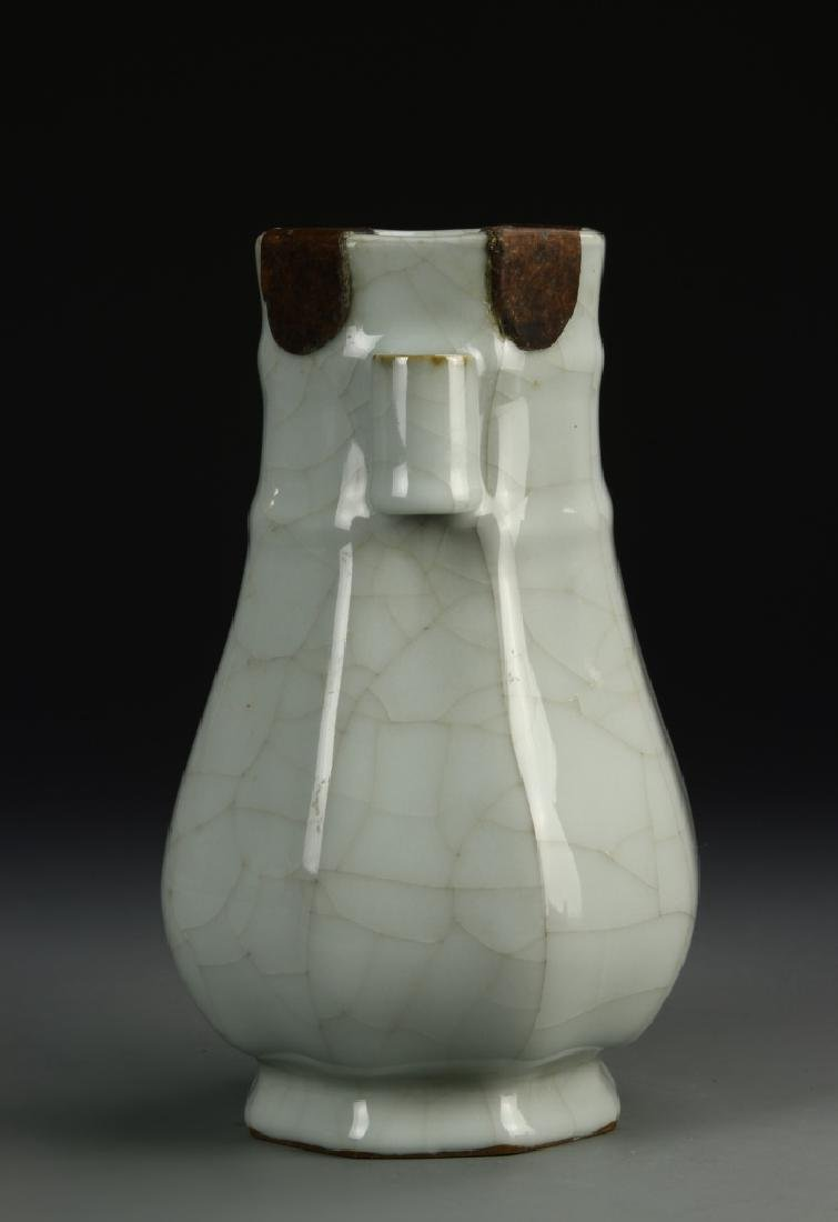 Chinese Guan-Type Hu Vase, Ch'ien Lung - 2