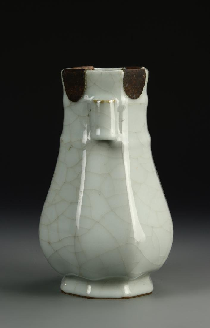 Chinese Guan-Type Hu Vase, Ch'ien Lung - 4
