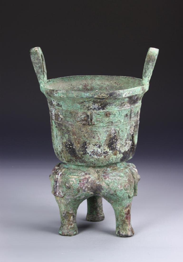 Chinese Bronze Ding Vessel