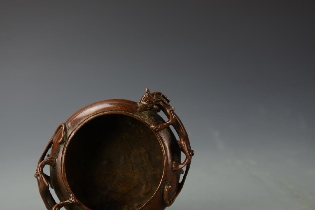 Chinese Bronze Censer - 5