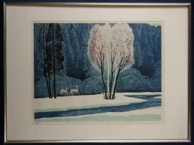 Yang Kaishen Wood Block Print