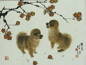 Chinese Painting Of Dogs