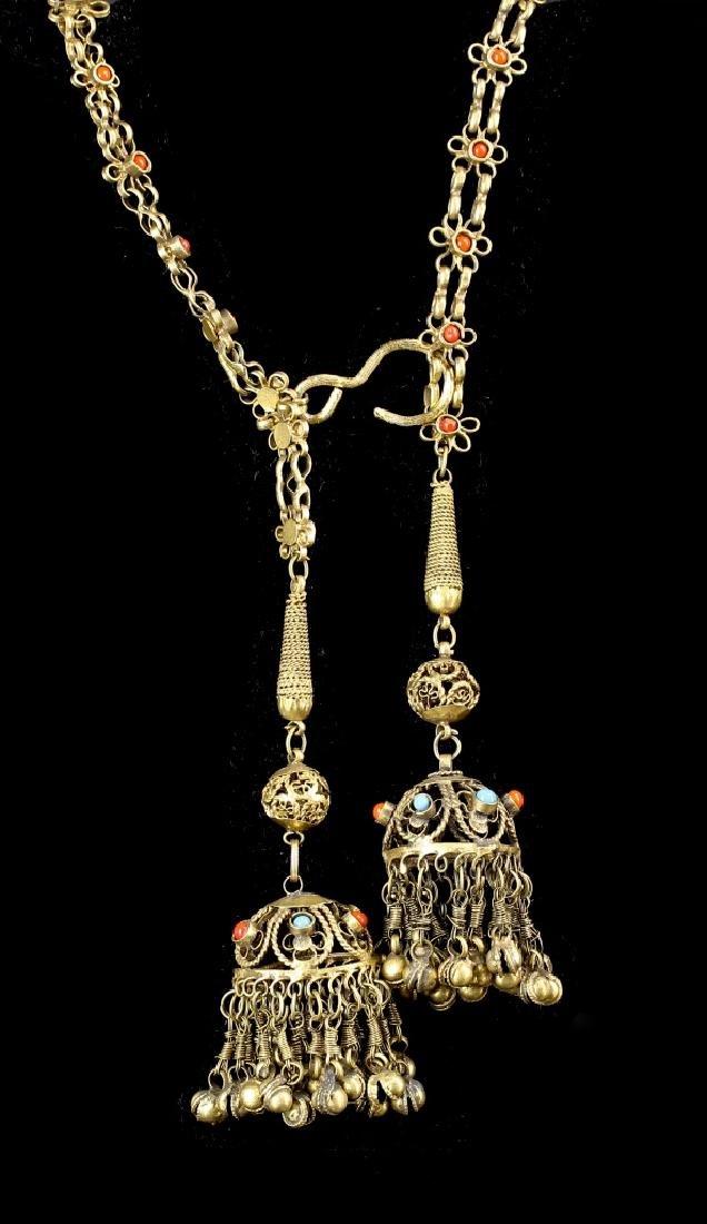 Chinese Tibetan Brass Belt