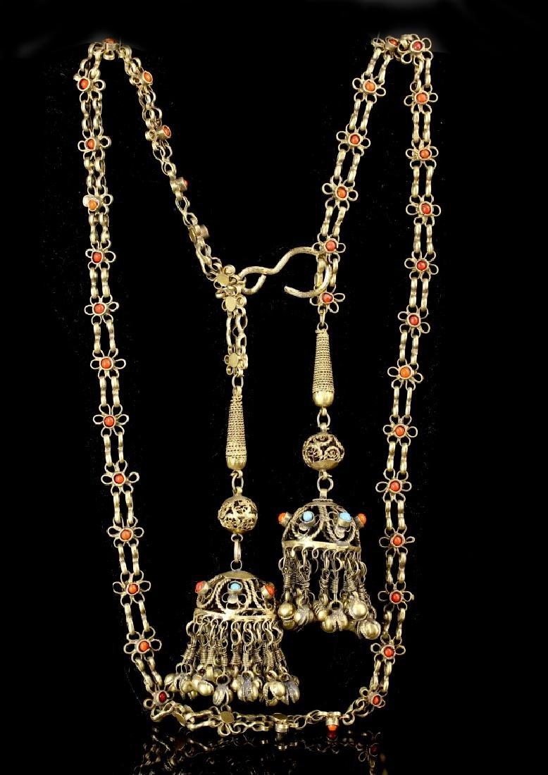 Chinese Tibetan Brass Belt - 3