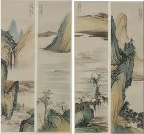 Four Chinese Scroll Paintings, Chen Shao Mei