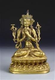 Chinese Gilt Bronze Buddha