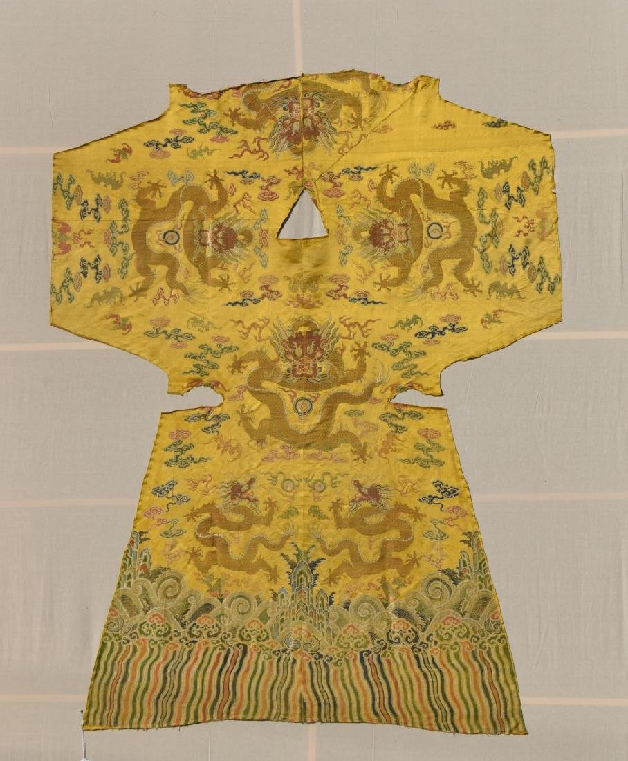 Chinese Kesi Dragon Robe Segment
